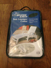 WEATHER SCREEN SUN LOUNGER GARDEN CHAIR COVER SINGLE BRAND NEW AND SEALED
