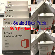 Microsoft Office Professional 2016  Sealed box Pack  DVD key COA in box by post