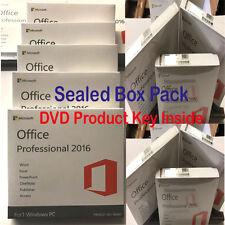 MICROSOFT Office Professional 2016 SCATOLA SIGILLATA Confezione DVD COA chiave nella casella Per Posta