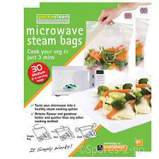 Quickasteam Support micro-ondes Vapeur Cook Sacs X 60