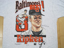 HUGE LOGO!! 90s vtg CAL RIPKEN JR T SHIRT baltimore orioles XL