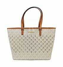 MICHAEL KORS TASCHE Shopper VIOLET Signature vanilla/pale gold Travel