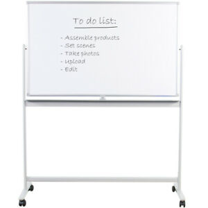 """VIVO Mobile Dry Erase Board 48"""" x 32"""" Magnetic Double Sided Whiteboard Stand"""