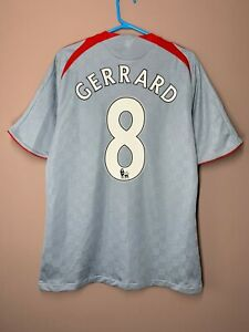 Liverpool 2008-2009 Gerrard #8 Away Football Shirt Soccer Jersey Rare sz M