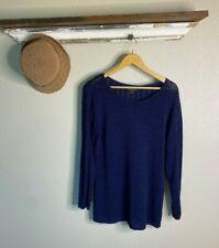 Rachel Zoe Sweater Pullover Women Size XL Navy Blue Cotton Blend Light Weight