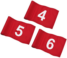 """Kingtop Numbered Golf Flag with Tube Inserted, All 8"""" L x 6"""", Putting Green Flag"""