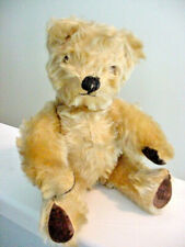 """Vintage CHAD VALLEY TEDDY BEAR Jointed Blonde Mohair Made in England 12"""" 30s40s"""