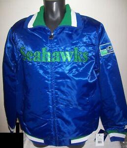 SEATTLE SEAHAWKS Starter Full Zip  Jacket  BLUE  LARGE