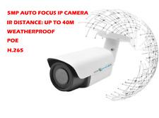 5mp Motorized Lens Bullet Poe IP Hd Network Security Camera Mic Onvif outdoor IR