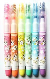Pack of 6 kawaii *Space Fairy* star shaped nib neon marker pens