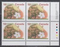 CANADA #1366 52¢ Fruit Trees Gravenstein Apple LR Plate Block MNH