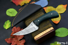 Custom Damascus Steel Skinning Hunting Knife Handmade,G-10 Micarta Handle D279-I
