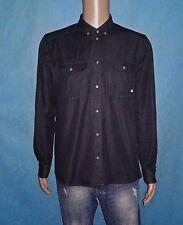 camicia di jeans ELEVEN PARIS di cotone con rilievi di gomito taglia XL