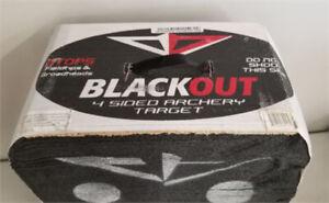 """Blackout 22"""" 4-Sided Archery Target - 22"""" x 20"""" x 10.5"""" - NEW"""