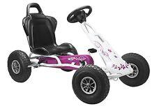 Go Kart Kettcar Ferbedo Go-Kart 008717 Air-Racer FLOWER weiss-pink NEU+OVP