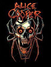 ALICE COOPER cd lgo SKULL SPIDER Official Black SHIRT Size LARGE new