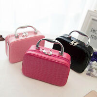 Professional Portable Beauty Case Makeup Case Cosmetics Box Carry Bag Organiser#