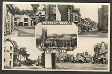 Postcard Tideswell near Buxton Derbyshire multiview vintage RP