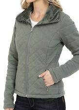 NUOVO THE NORTH FACE caroluna Corto Imbottito Giacca in pile verde DONNA XS XS