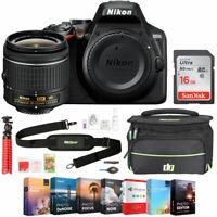 Nikon D3500 24.2MP DSLR Camera with NIKKOR 18-55mm f/3.5-5.6G VR + 16GB Bundle