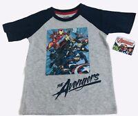 Marvel Avengers Boys T-Shirt Size M 8 Iron Man Thor Captain America