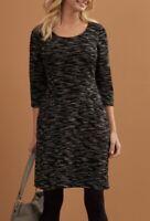 NEW BRAVISSIMO Mia Dress Ladies Jersey Autumn Work Smart Evening Dress (BR148)