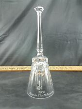 """Vintage Collectible Glass Bell 2000 Ring In The Millennium 9"""""""