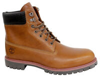 Timberland 15.2cm Premium Tejido Botas Hombre Zapatos con Cordones Cuero Marrón