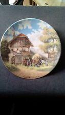Von Christian Luckel Vintage Collectors Plate (Bor Der SchmiedDe) 1986
