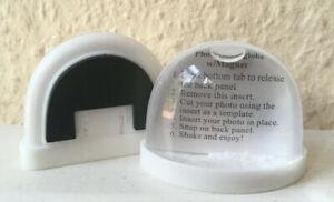 2x Schneekugel f. Ihr Foto Halbkugel mit Magnet magnetisch Kühlschrank Weihnacht