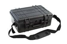"""New Black Waterproof Case 16.7"""" x 12.8"""" x 6.6"""" w/ Custom Foam Insert"""