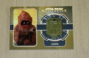 2020 Topps Star Wars Masterwork DOG TAG GOLD true one of one JAWA 1/1