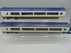 Hornby OO Gauge Eurostar Coaches X 2 (Unboxed)