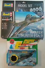 AIRFIX SUPERMARINE SPITFIRE MK1 - REVELL HAWKER HUNTER FGA.9 -1:72 STARTER KITS