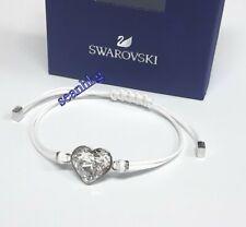 Swarovski 5523696 Power Collection Heart Bracelet White Clear Crystal Adjustable