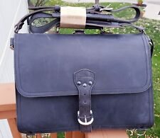 Saddleback leather Large Thin Briefcase DUSTY CARBON!! BRANDED!!