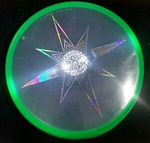 "Aerobie Skylighter 12"" Frisbee LED Light Glow Flying Frisbee Disc Green"