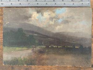 ANTIQUE Heinrich Richard Reder IMPRESSIONIST OIL PAINTING LANDSCAPE (1862–1942)