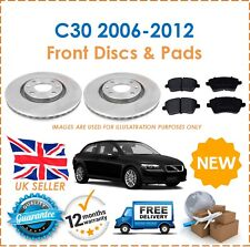 For Volvo C30 2006-2012 Two Front Vented 300MM Brake Discs & Brake Pads Set New