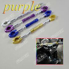 "Sundely Hi-Q purple BIKE Motorcycle Handlebar Brace & Clamp bar Set 7""/8"" handle"