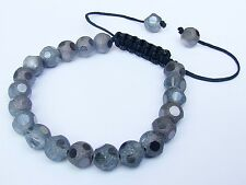 Womens Bracelet all 8mm Crystal frosted gemstone beads