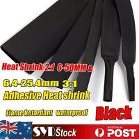 Black Heatshrink Tubing 2:1& 3:1 Marine Heat Shrink Sleeving Electric Insulation
