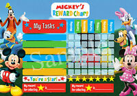MICKEY MOUSE MINNIE PERSONALISED REWARD CHART BEHAVIOUR CHORE KIDS ACTIVITY