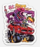 Rat Fink Hot Stuff Pontiac Firebird Custom MAGNET Muscle Car Vintage Hot Rod V8