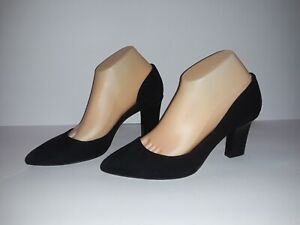 Reed Krakoff Women Black Suede Pumps Heels Italy Shoes EU 39 US 8.5