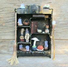 16 items dollhouse miniature witch doll Halloween decoration gothic horror decor