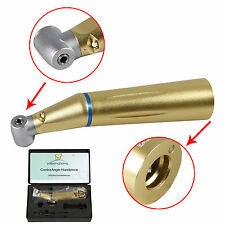 Dental Inner water Fiber Optic LED Low Speed Contra Angle Handpiece Push YH-Gold
