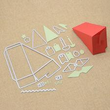 DIY Kuchen Box Stanzschablone Tortenstück Dreieck Schachtel Papier Bastelbedarf