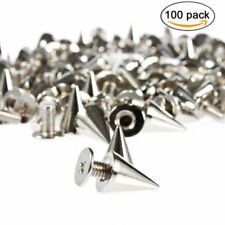 100pcs 9.5mm 9.5mm Silver Cone Spikes Screwback Studs DIY Craft Cool Rivets Punk