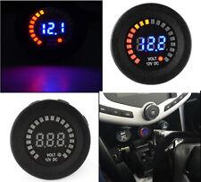 DC 12V LED digital display car motorcycle voltmeter short circuit protection